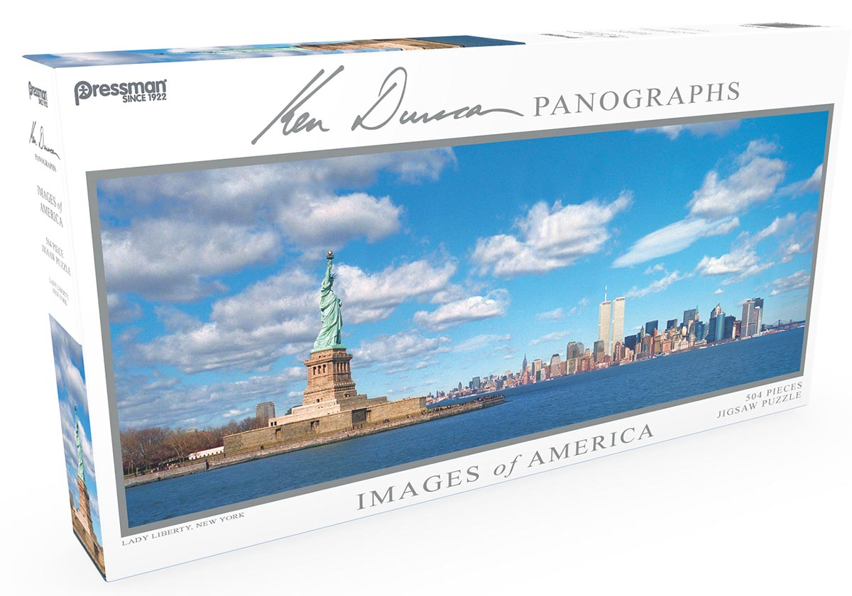 Images of America Panoramic Puzzle - Lady Liberty New York Jigsaw Puzzle