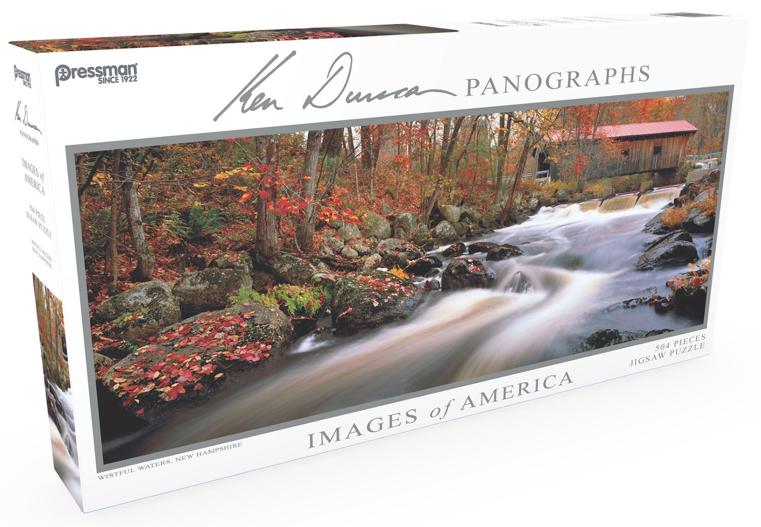 Images of America Panoramic Puzzle - Wistful Waters Fall Jigsaw Puzzle