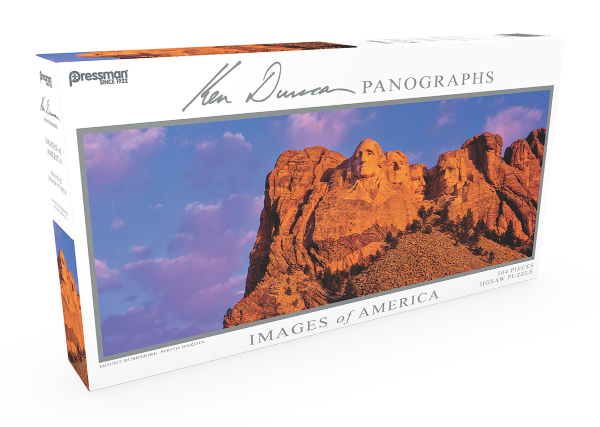 Images of America Panoramic Puzzle - Mt. Rushmore Landmarks / Monuments Jigsaw Puzzle