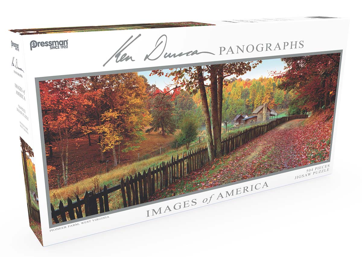 Images of America Panoramic Puzzle - Pioneer Farm Fall Jigsaw Puzzle