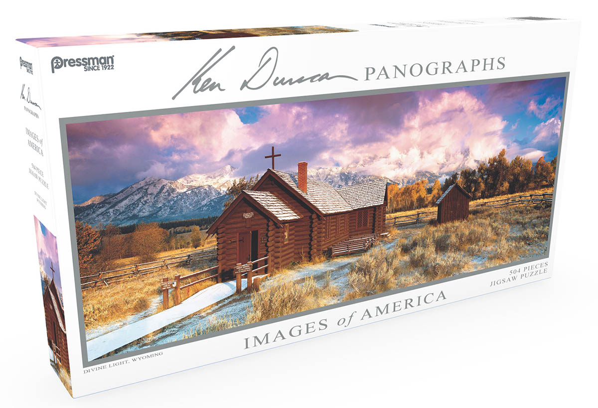 Images of America Panoramic Puzzle - Divine Light Mountains Jigsaw Puzzle