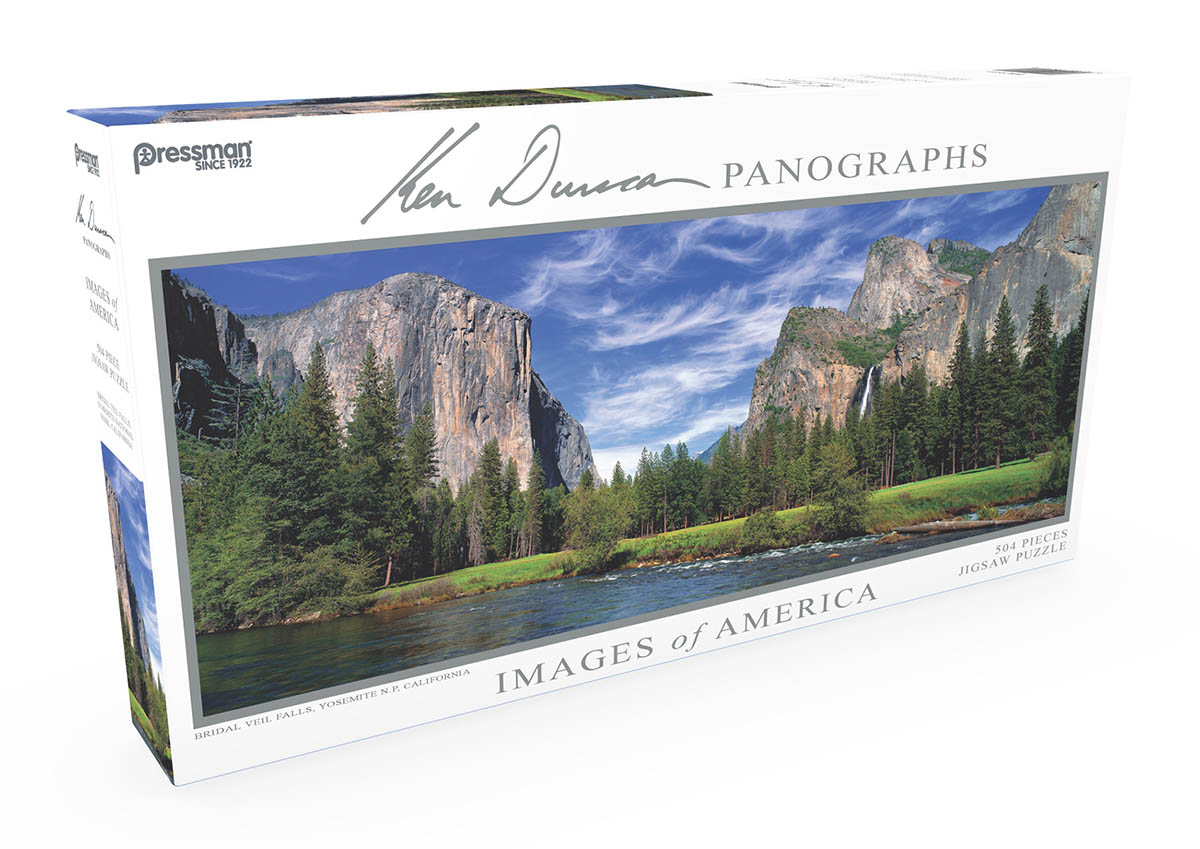 Images of America Panoramic Puzzle - Bridal Veil Falls Landscape Jigsaw Puzzle