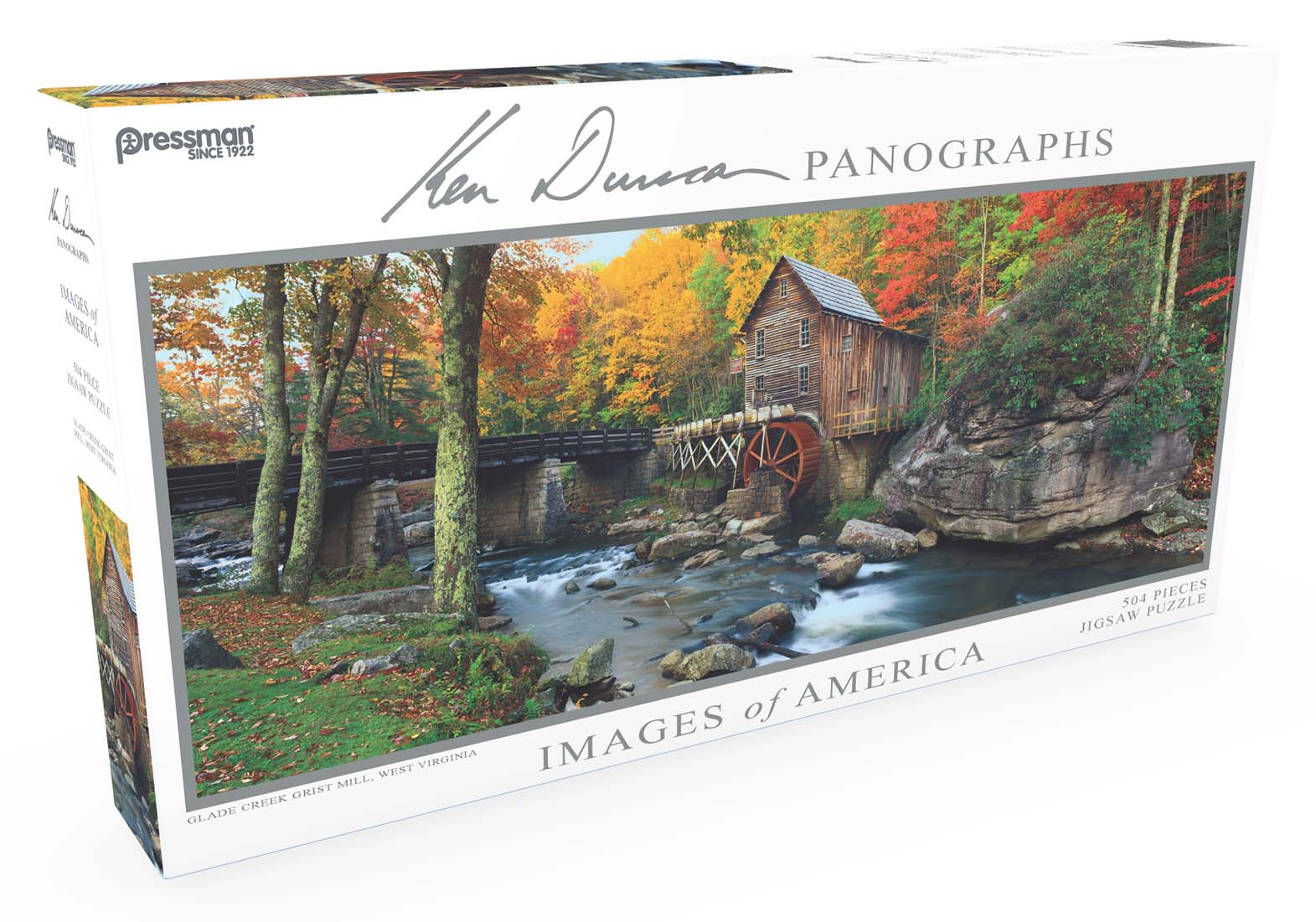 Images of America Panoramic Puzzle - Glade Creek Grist Mill Fall Jigsaw Puzzle