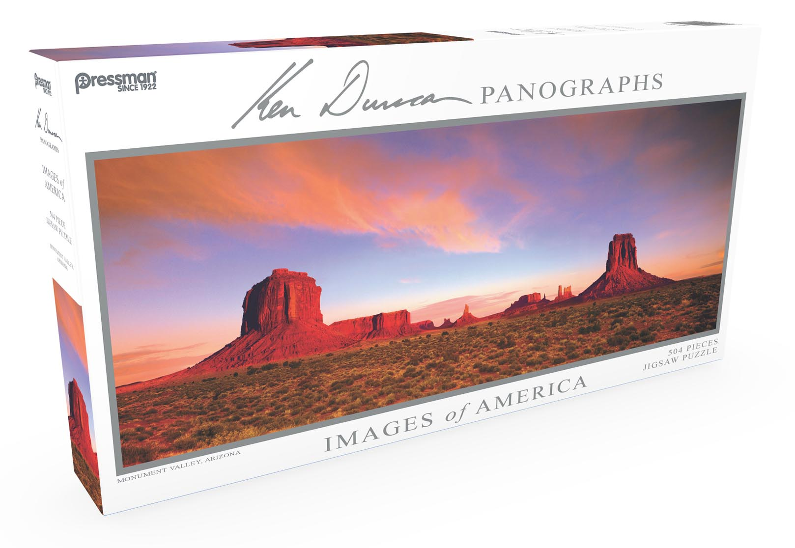 Images of America Panoramic Puzzle - Monument Valley Landscape Jigsaw Puzzle