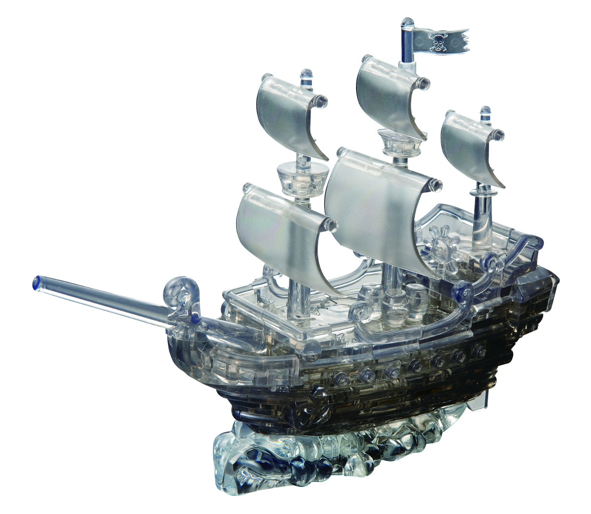 Pirate Ship (Black) Boats Jigsaw Puzzle