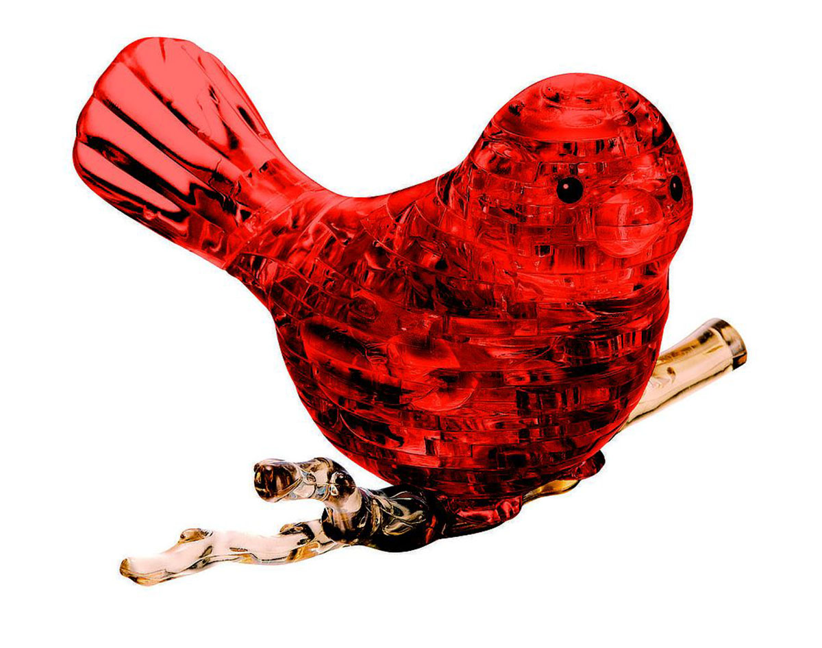 Red Bird Birds 3D Puzzle