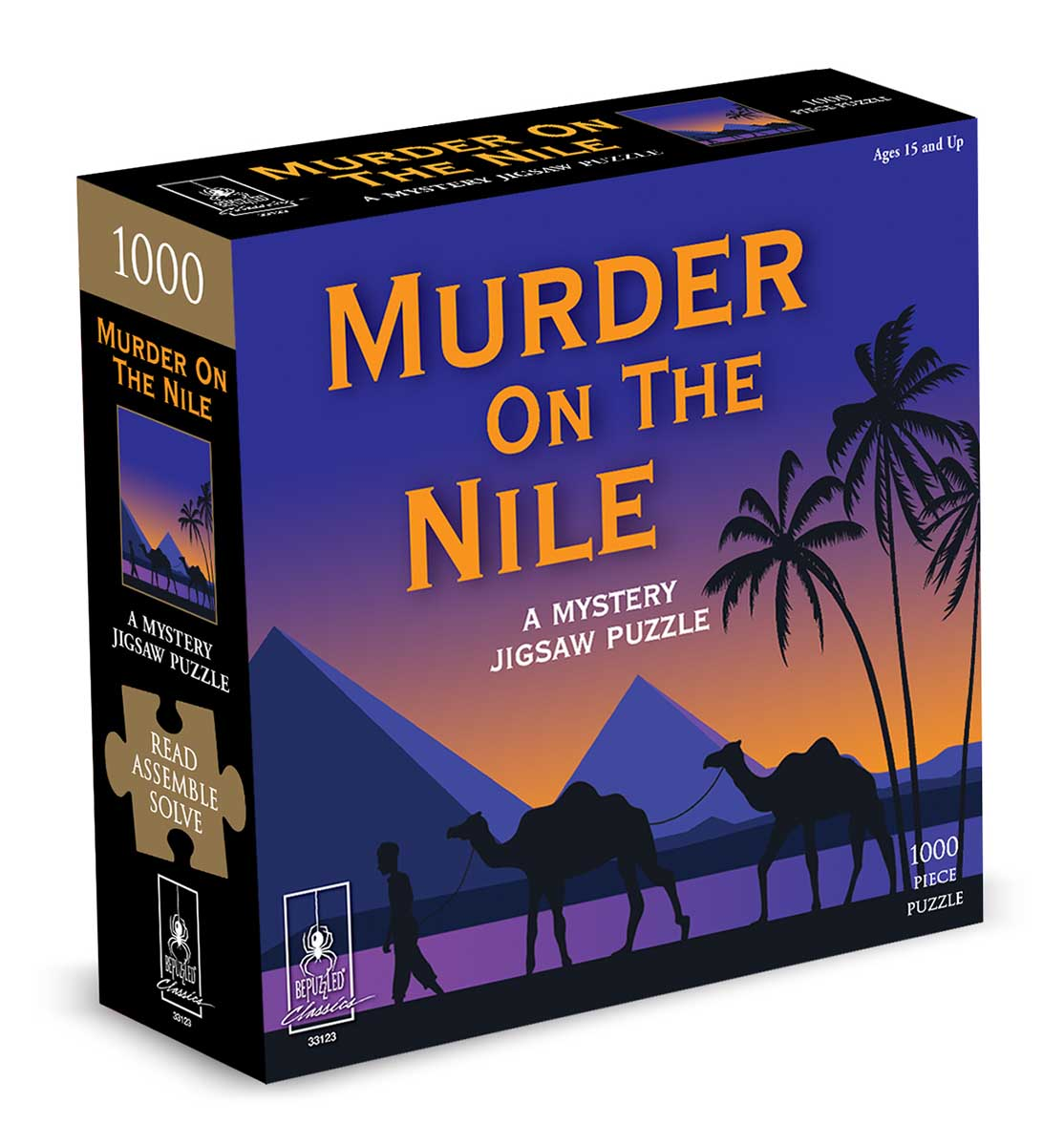 Murder On the Nile Murder Mystery Jigsaw Puzzle