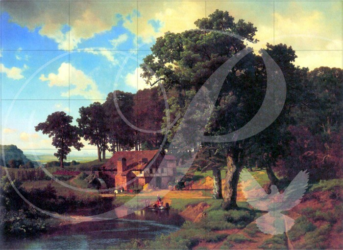 A rustic mill Fine Art Wooden Jigsaw Puzzle