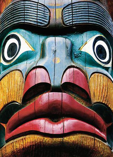 Totem Pole Native American Jigsaw Puzzle