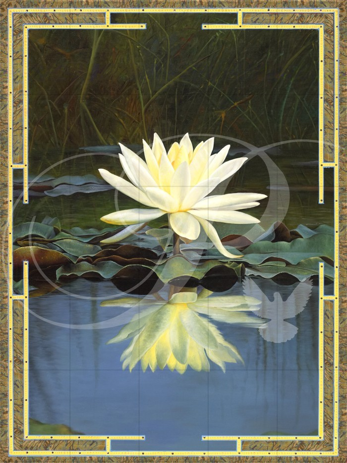 Lotus Reflection Flowers Wooden Jigsaw Puzzle
