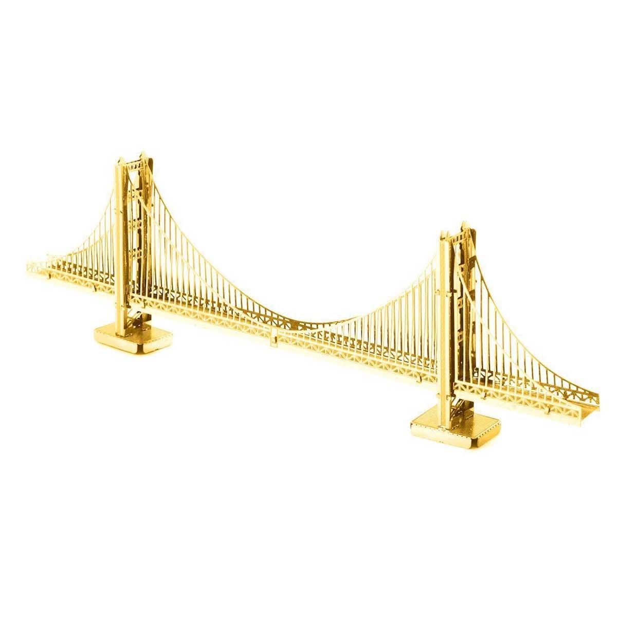Gold Golden Gate Bridge San Francisco 3D Puzzle