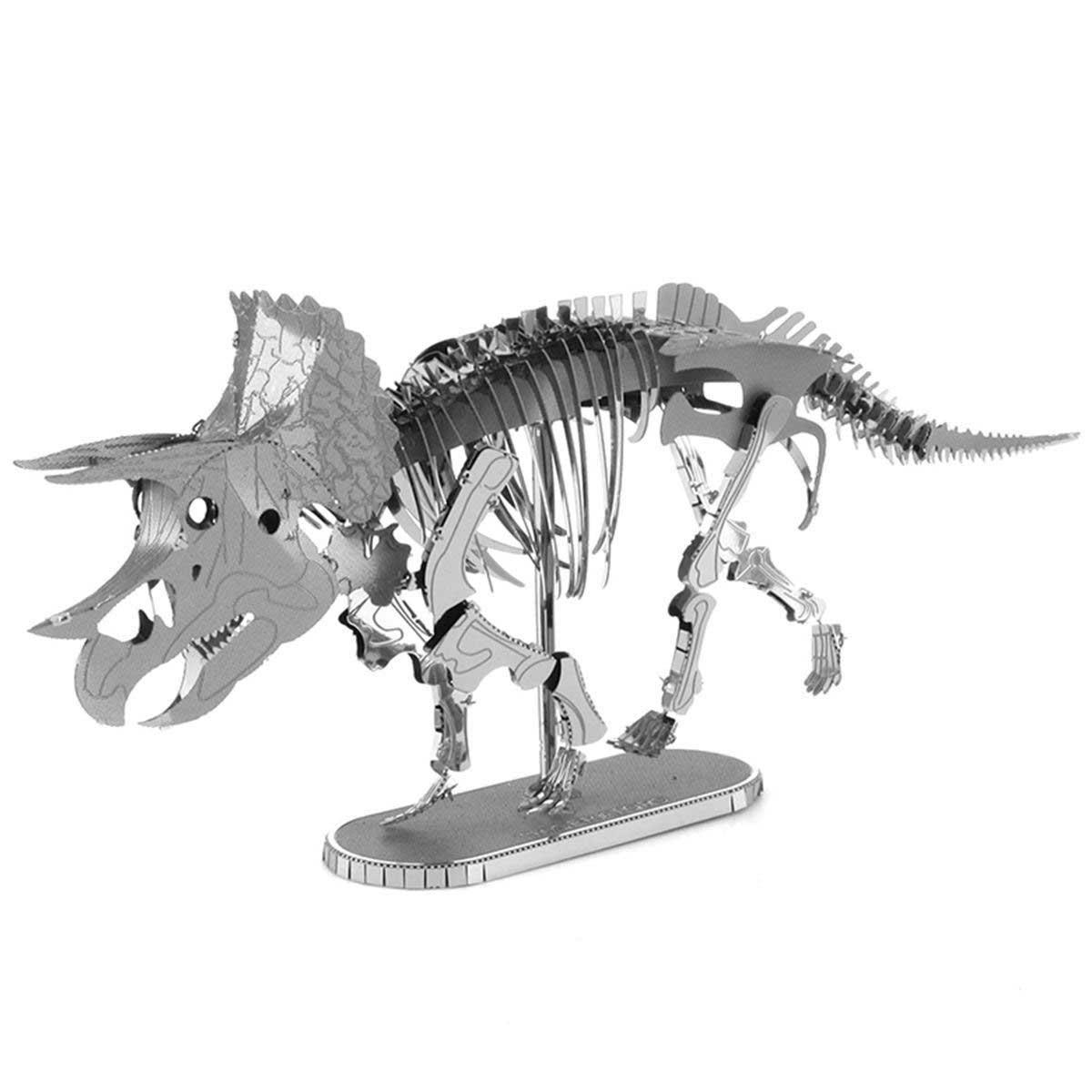 Triceratops Skeleton Dinosaurs Metal Puzzles