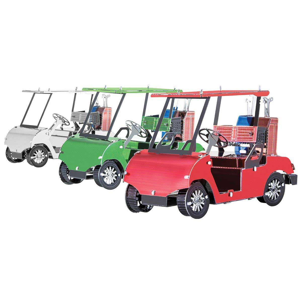 Golf Cart Set Cars Metal Puzzles
