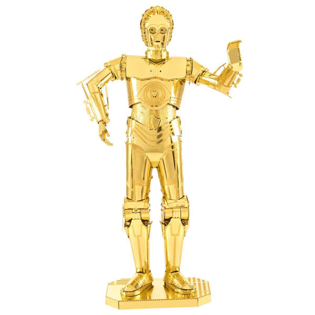 Gold C-3PO Movies / Books / TV Metal Puzzles