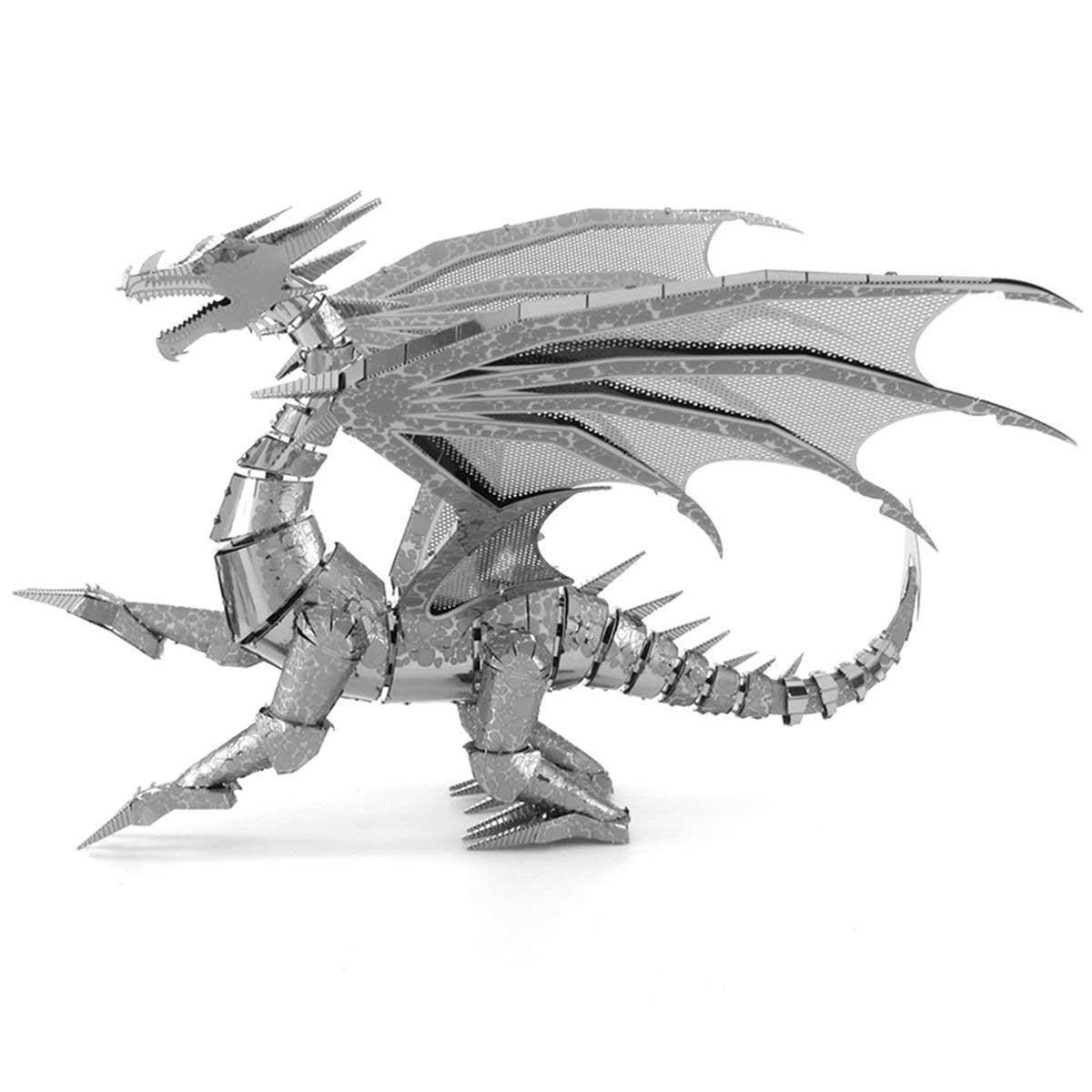 Silver Dragon Dragons Metal Puzzles