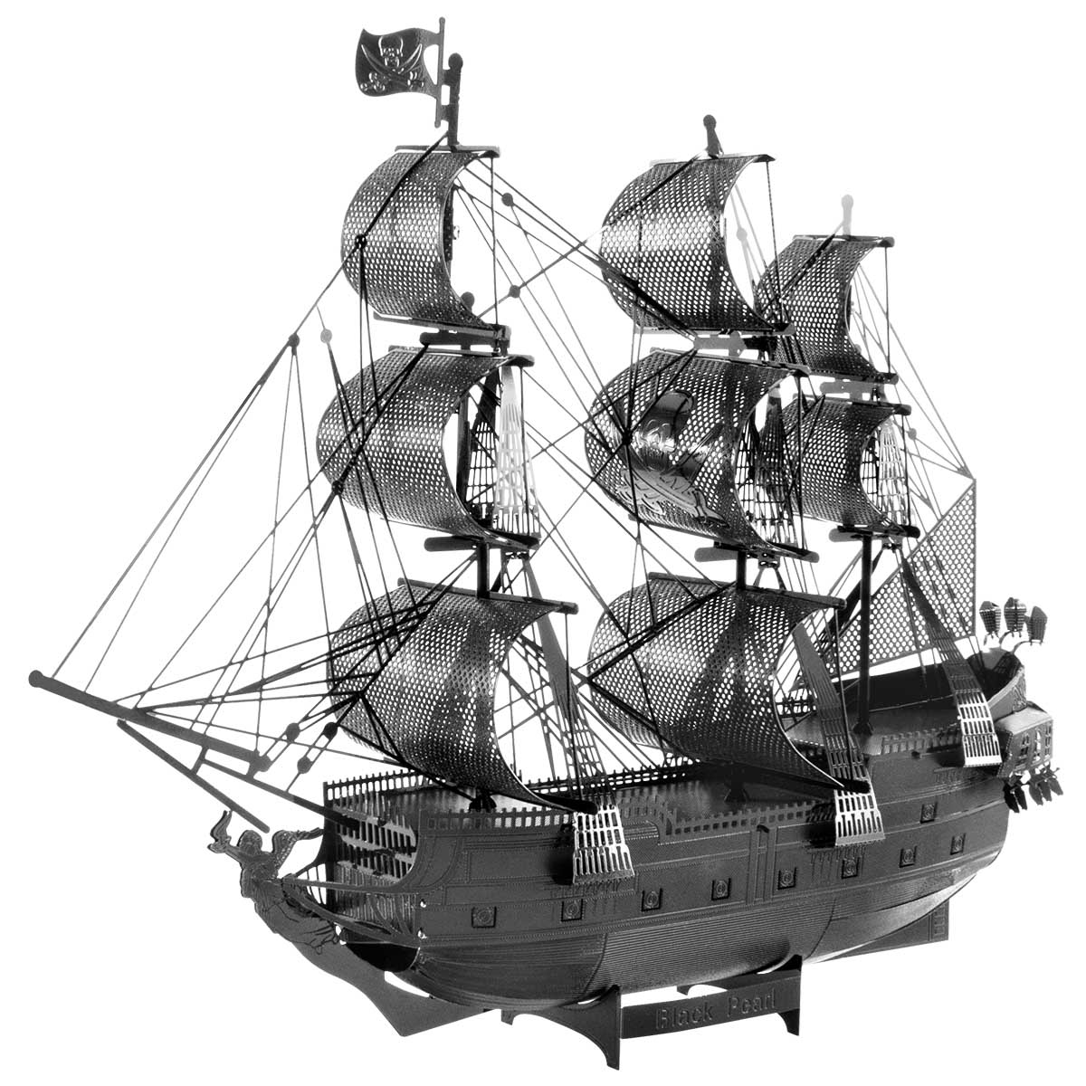 Black Pearl Ship - BLACK Boats 3D Puzzle