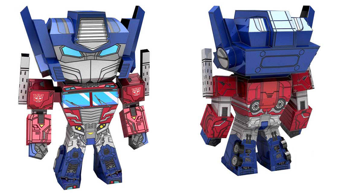 Optimus Prime Cartoons Metal Puzzles