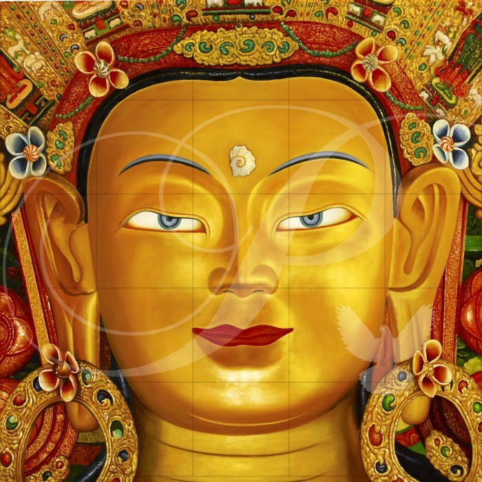 Maha Maitreya Asian Art Wooden Jigsaw Puzzle