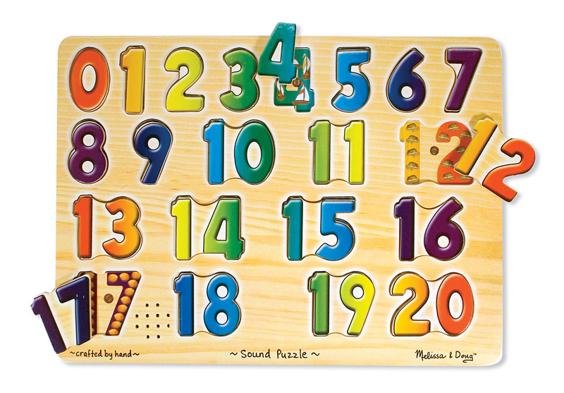 Sound Puzzle - Numbers Educational Children's Puzzles