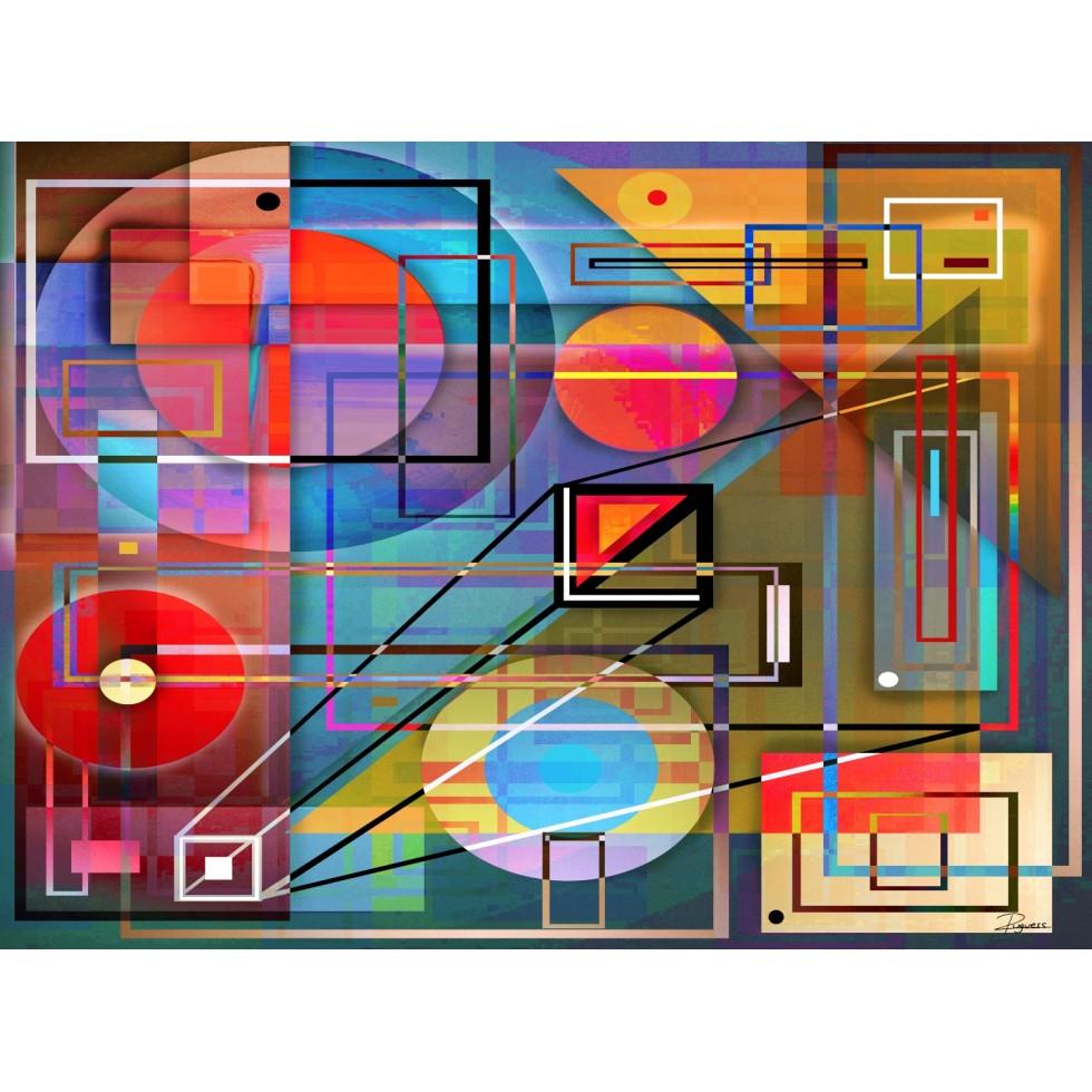 L'Équilibre Des Formes Abstract Jigsaw Puzzle