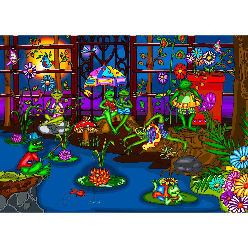 Frogs' Summer Camp Summer Jigsaw Puzzle