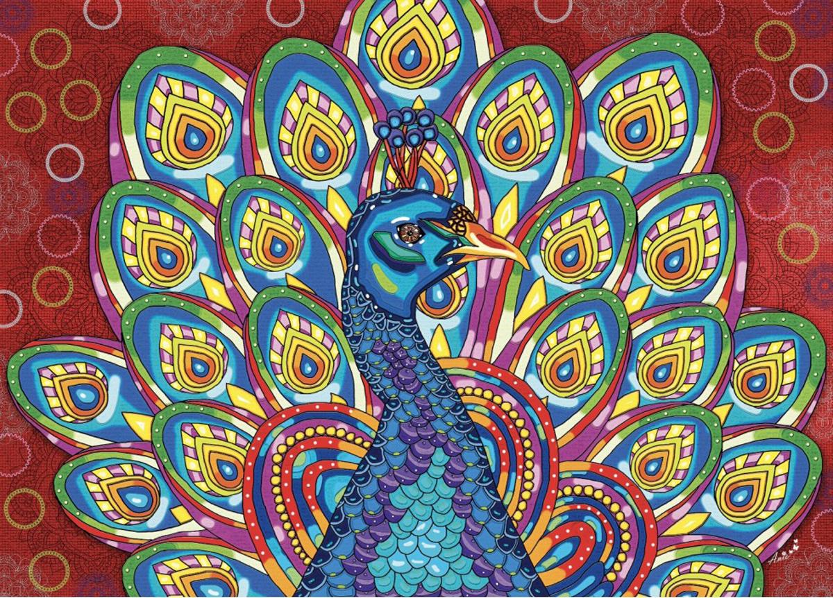 Royal Peacock Animals Jigsaw Puzzle