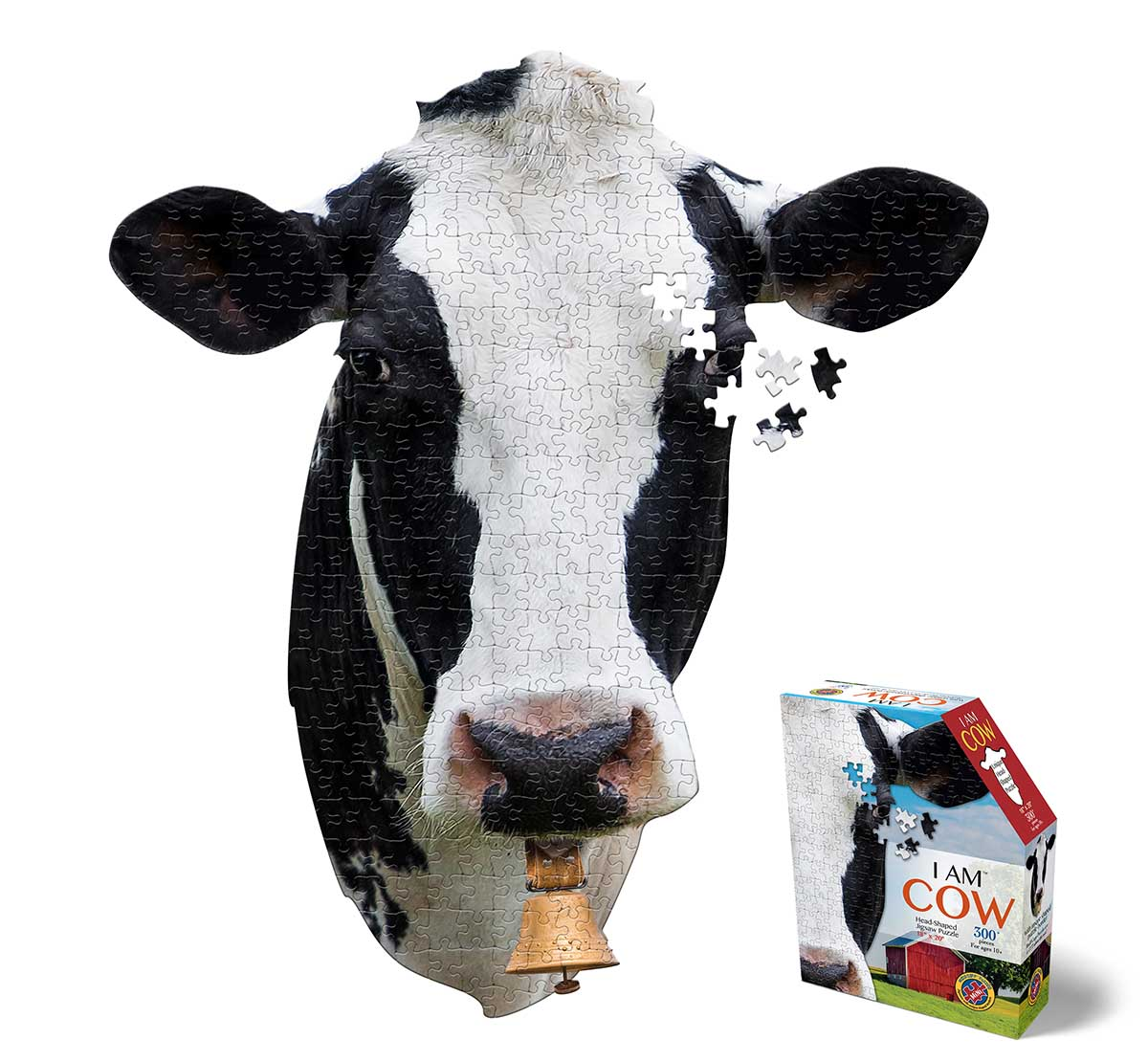 Madd Capp Mini Puzzle - I AM Cow Farm Animals Shaped Puzzle