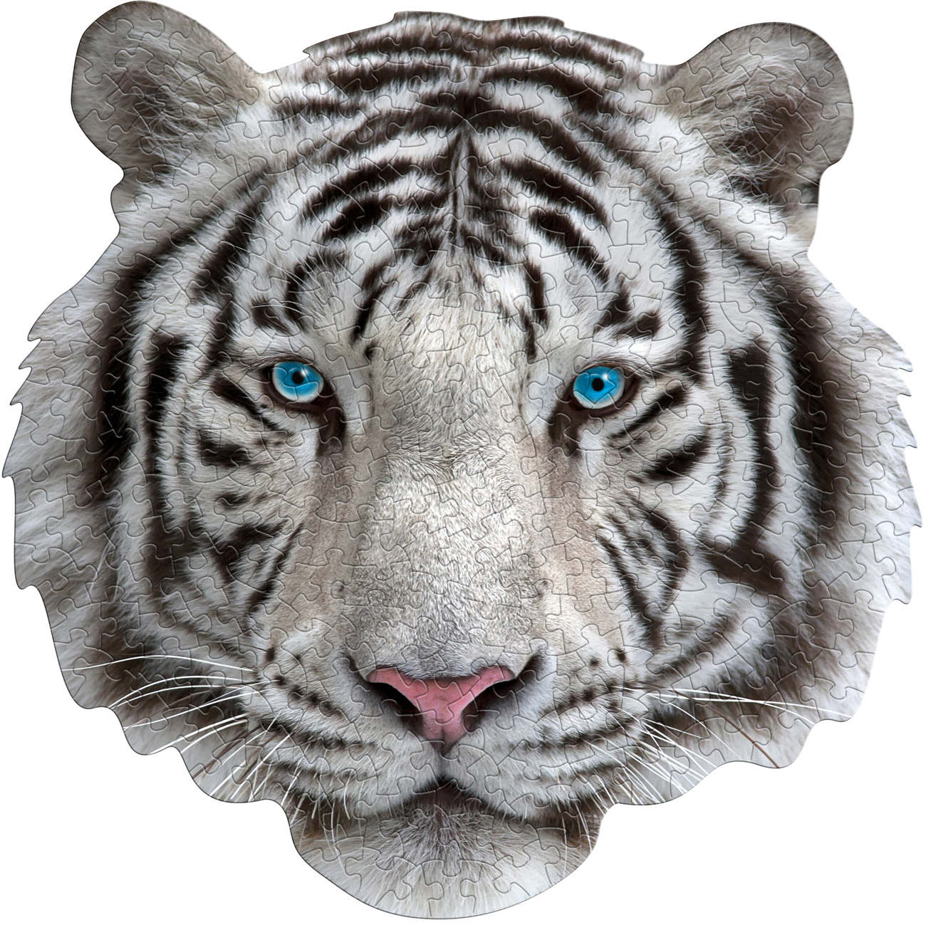 Madd Capp Mini Puzzle - I AM White Tiger Cats Shaped Puzzle