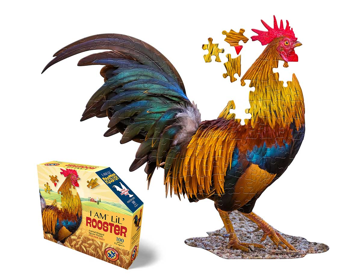 Madd Capp Jr Puzzle - I AM Lil' Rooster Birds Shaped Puzzle