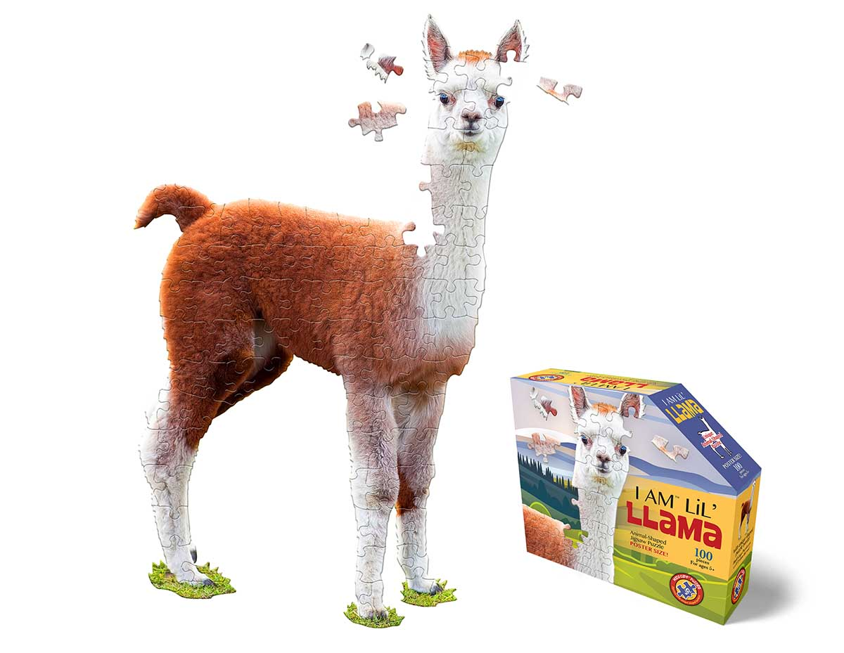 Madd Capp Jr Puzzle - I AM Lil' Llama Animals Shaped Puzzle