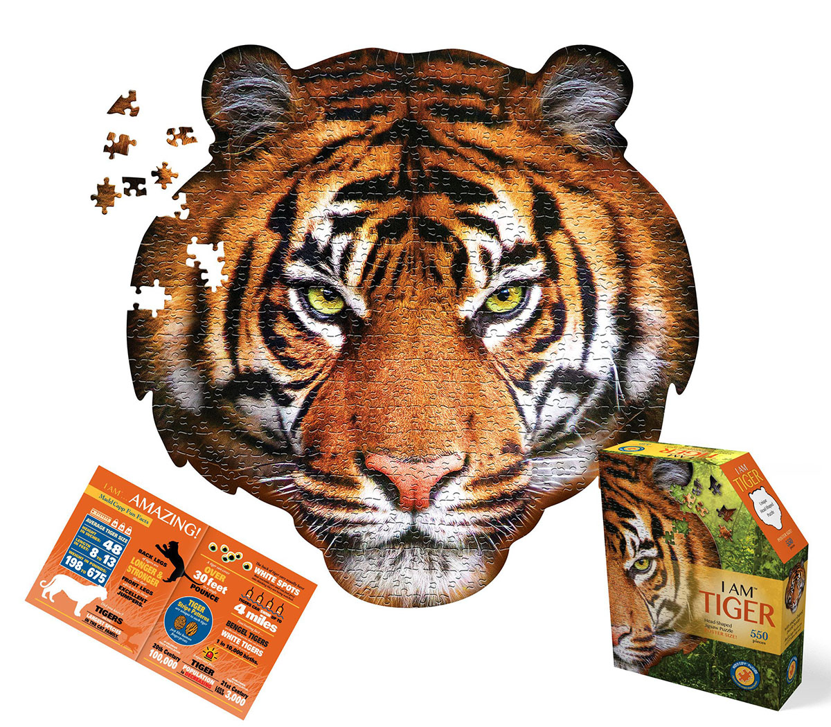 I Am Tiger Wildlife Shaped Puzzle