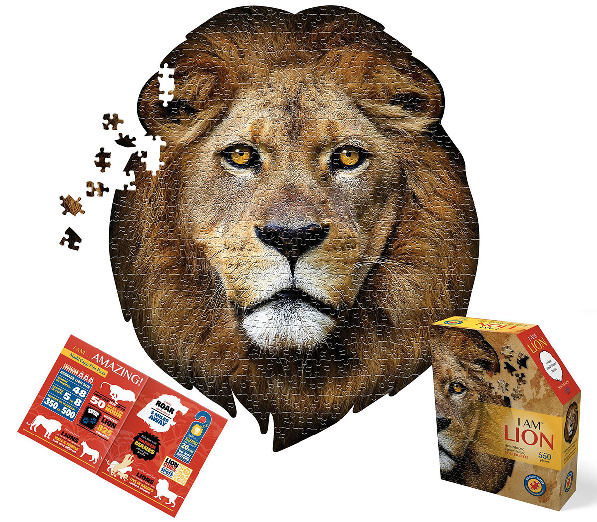 I Am Lion Wildlife Shaped Puzzle
