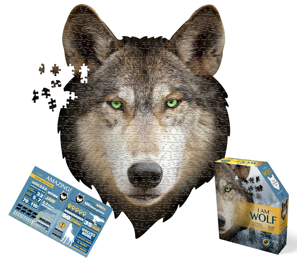 I Am Wolf Wolves Shaped Puzzle