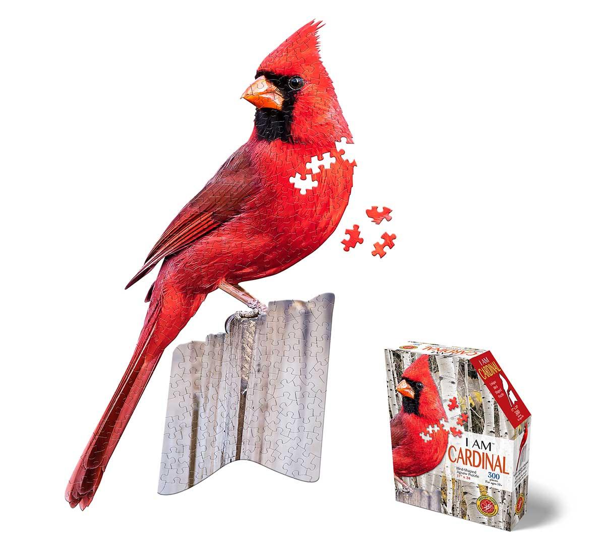 I AM Cardnal Birds Shaped Puzzle