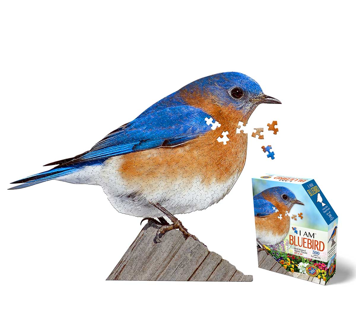 I AM Bluebird Birds Shaped Puzzle