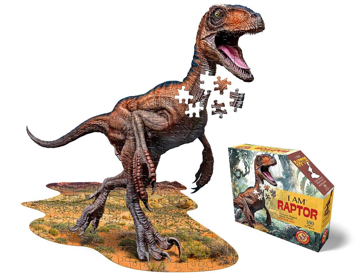 I Am Raptor Dinosaurs Shaped Puzzle