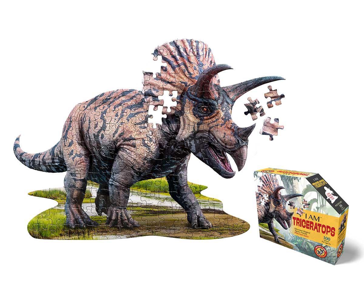 I Am Triceratops (Mini) Dinosaurs Shaped Puzzle