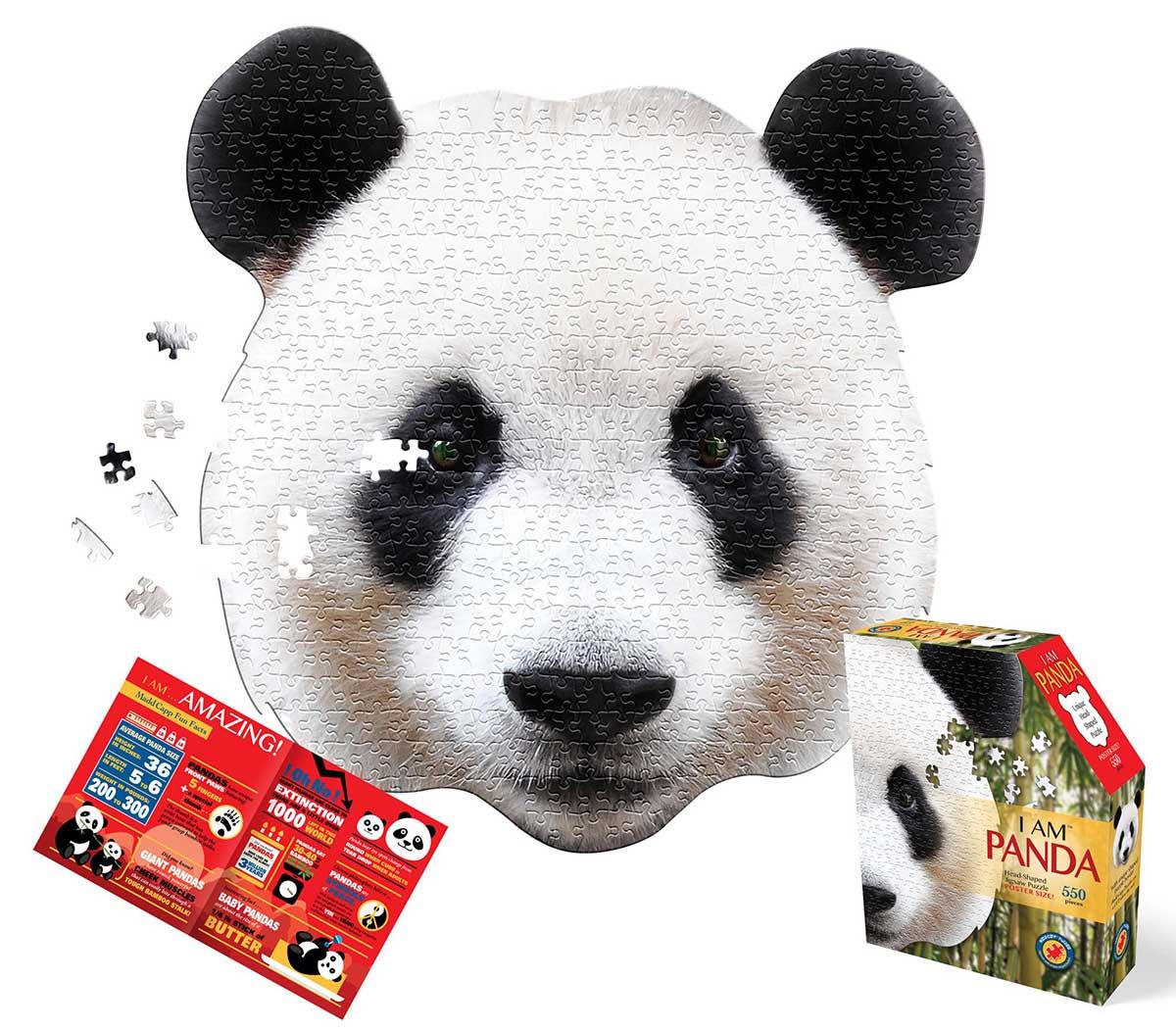 I Am Panda Wildlife Shaped Puzzle