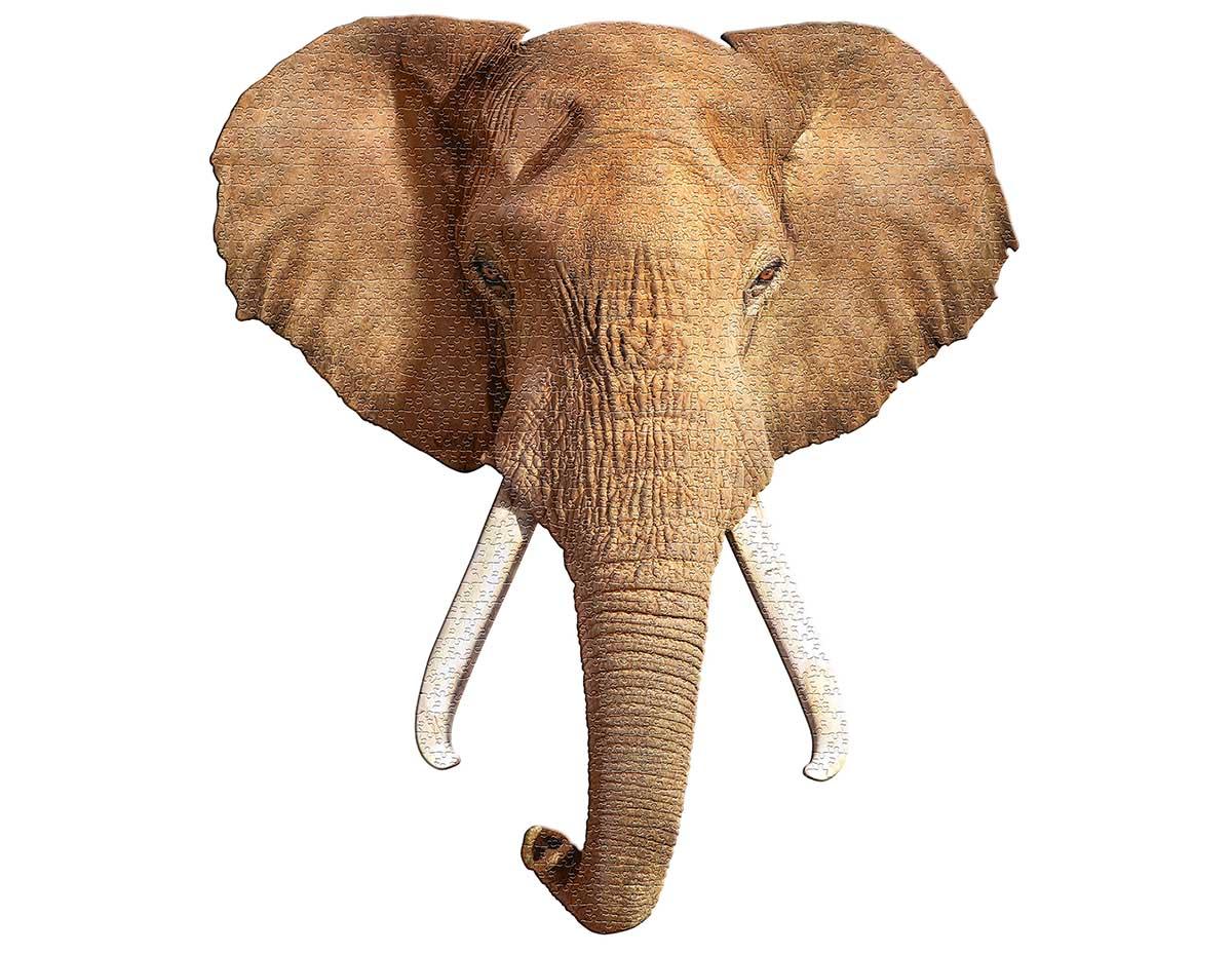 I AM Elephant Elephants Shaped Puzzle