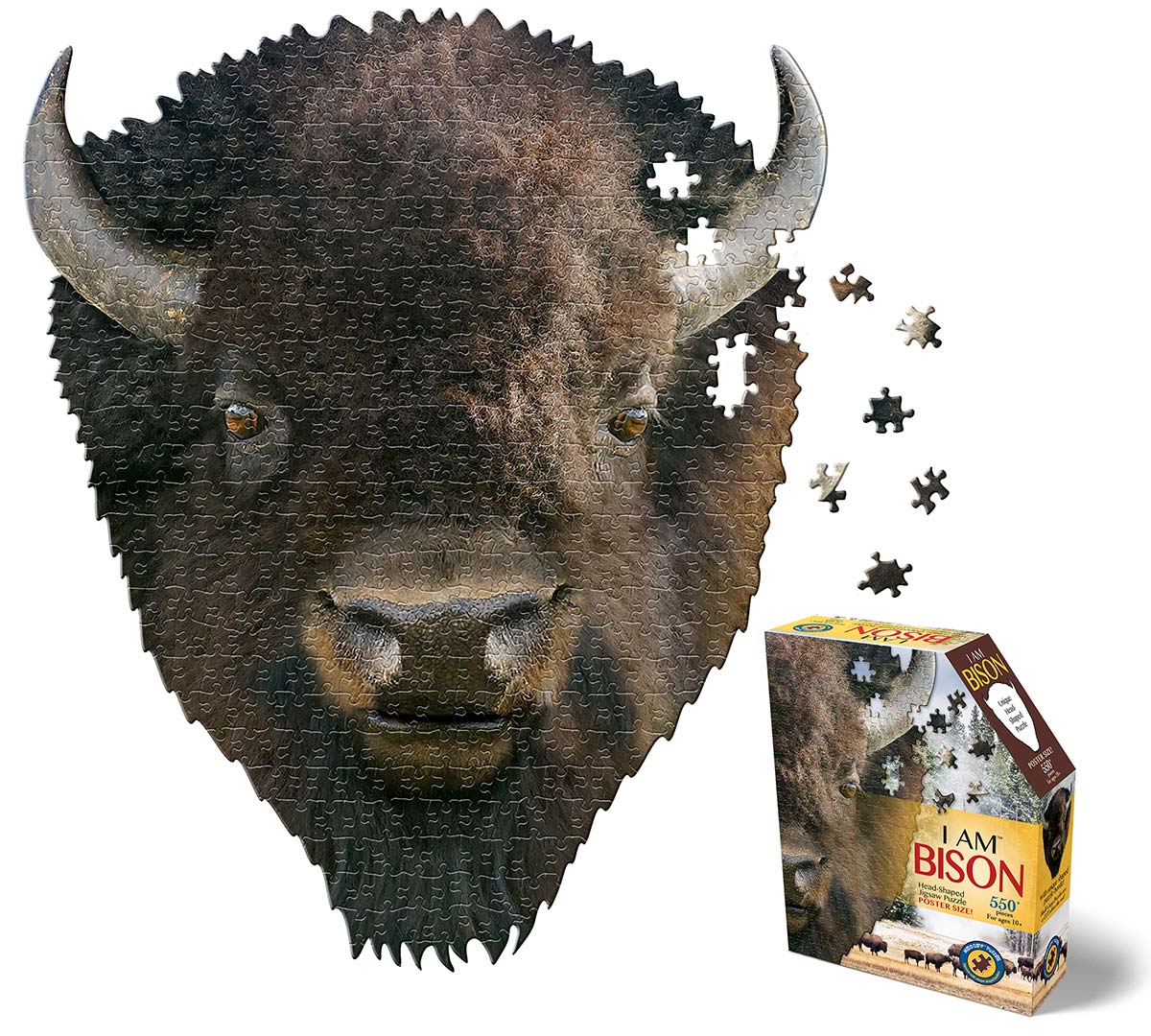 I Am Bison Wildlife Shaped Puzzle