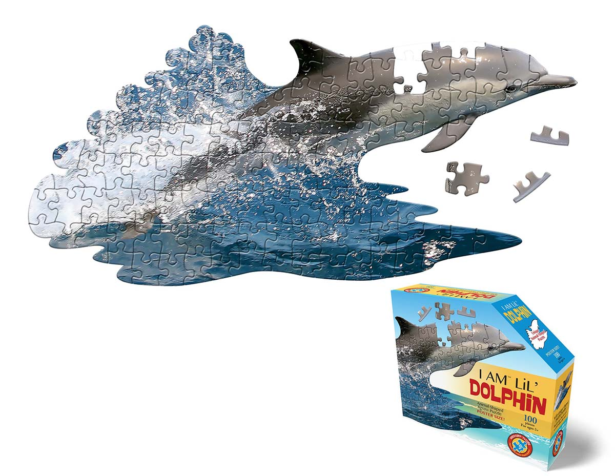 I Am Lil' Dolphin Under The Sea Shaped Puzzle