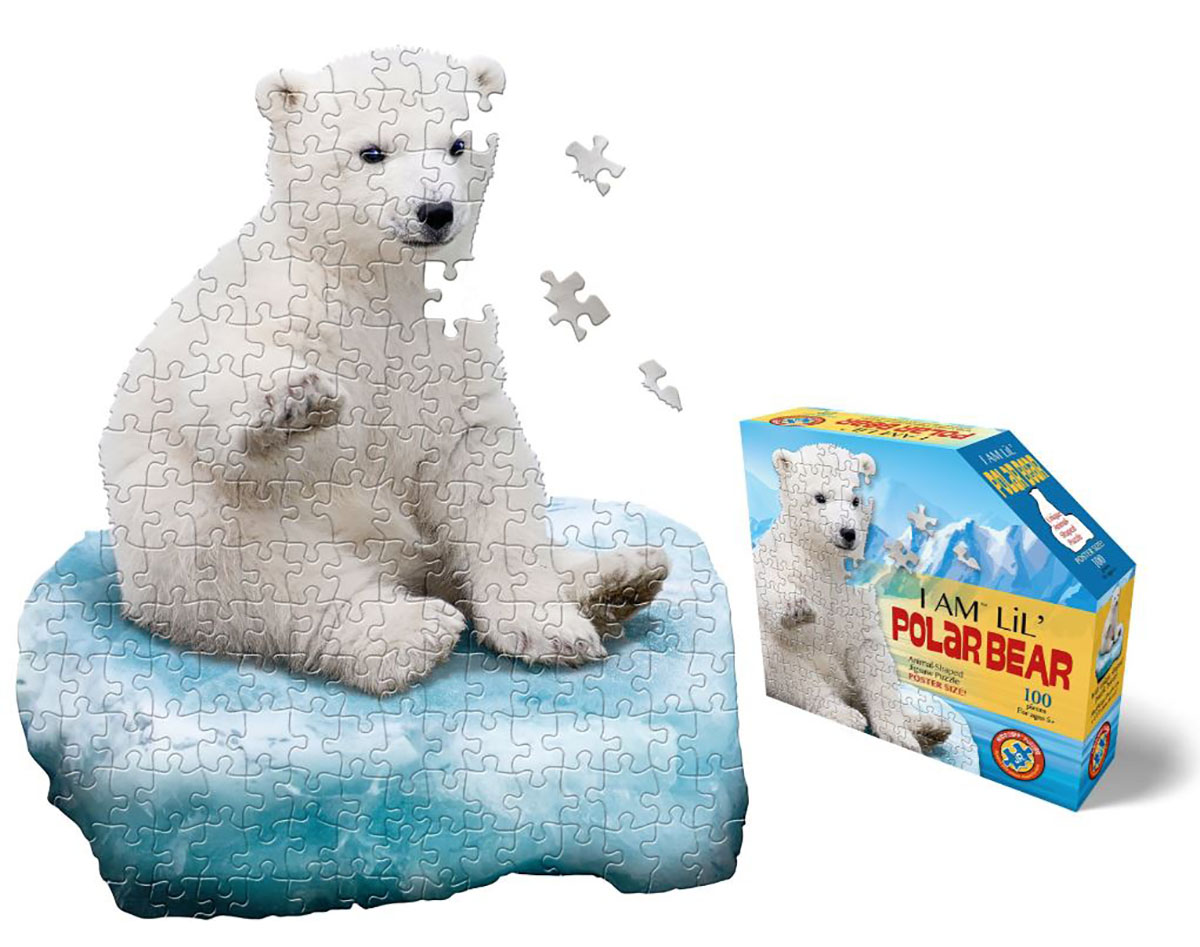 I Am Lil' Polar Bear Wildlife Shaped Puzzle