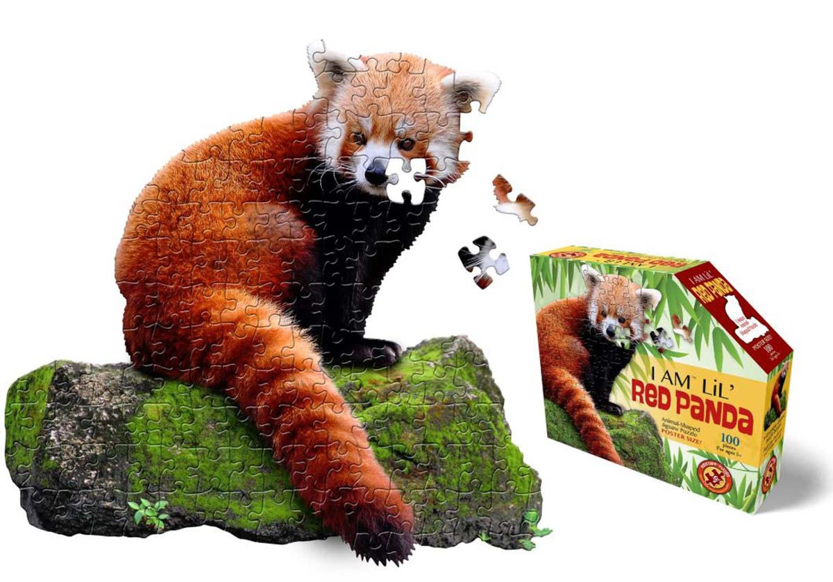 I Am Lil' Red Panda Wildlife Shaped Puzzle