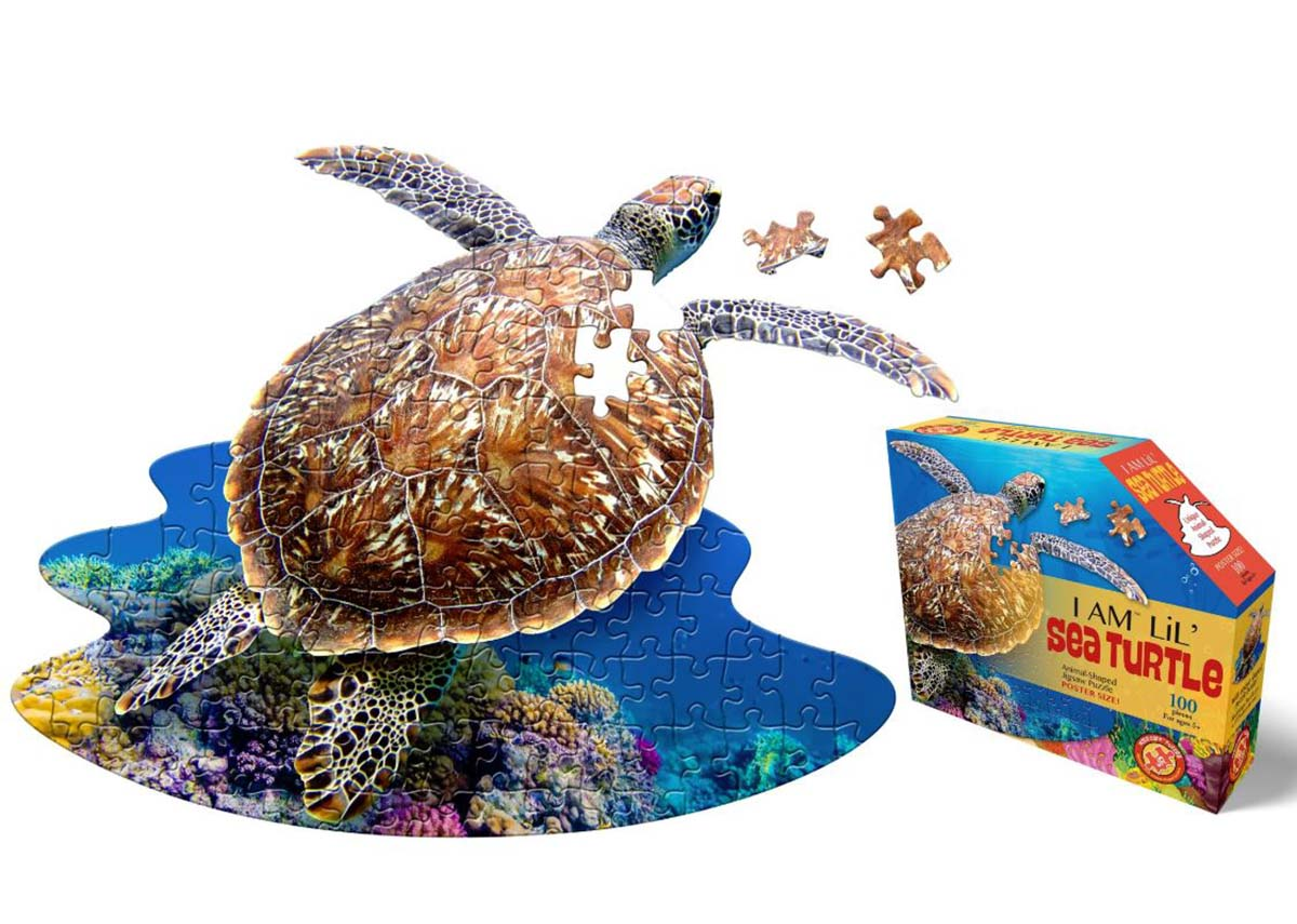 I Am Lil' Sea Turtle Animals Shaped Puzzle