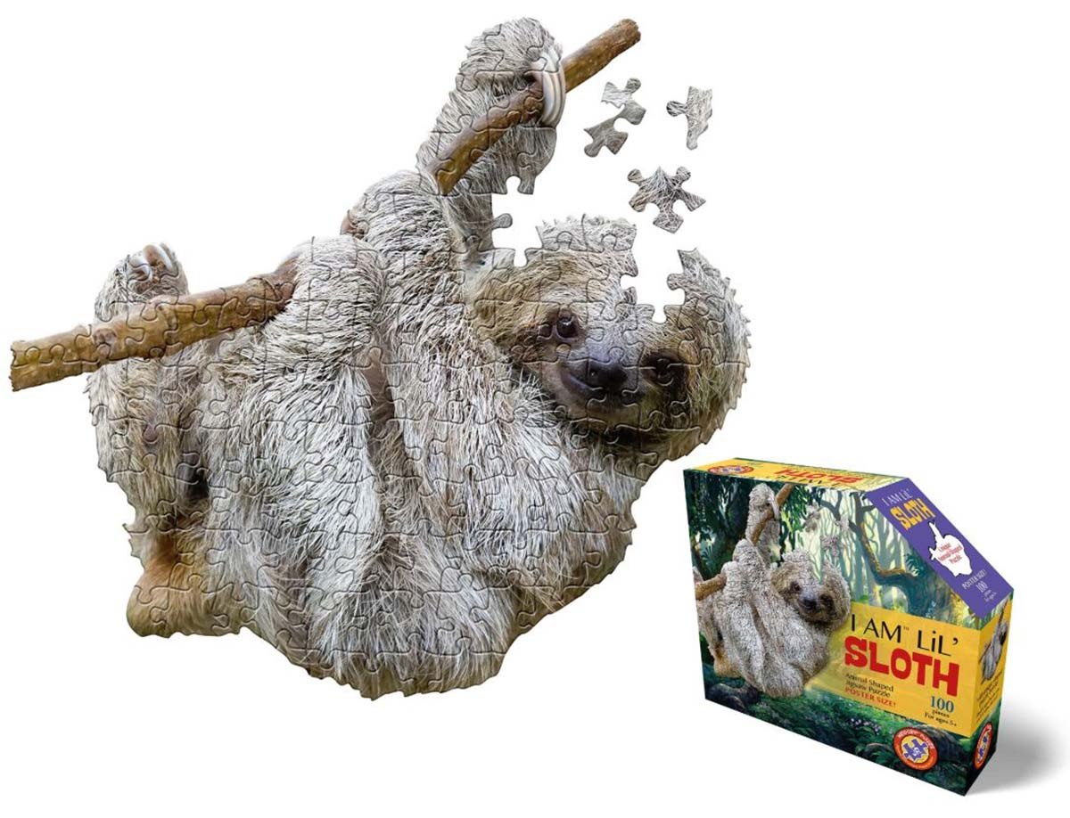 I Am Lil' Sloth Animals Shaped Puzzle