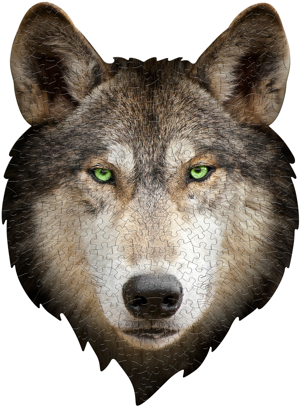 I Am Wolf Animals Shaped Puzzle