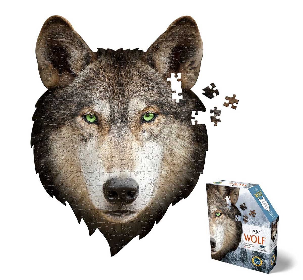 Madd Capp Mini Puzzle - I AM Wolf Wolves Shaped Puzzle