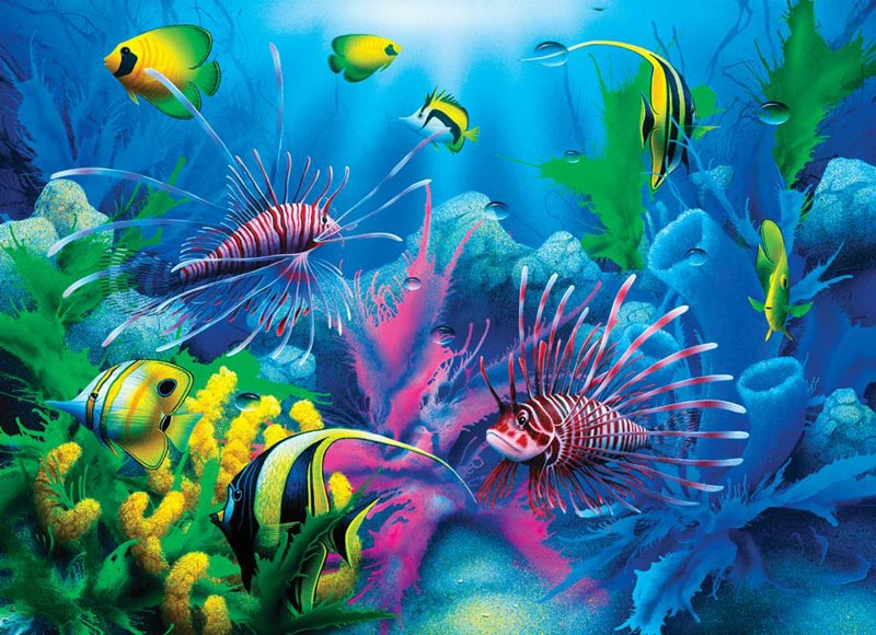 Lions of the Sea Under The Sea Jigsaw Puzzle