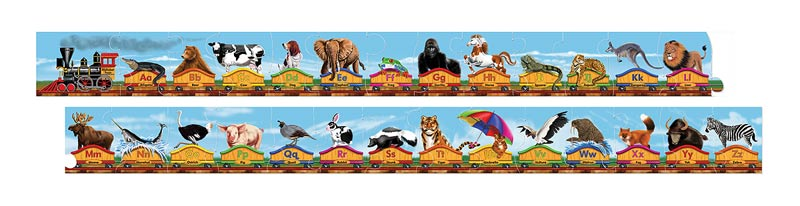Alphabet Train Educational Jigsaw Puzzle