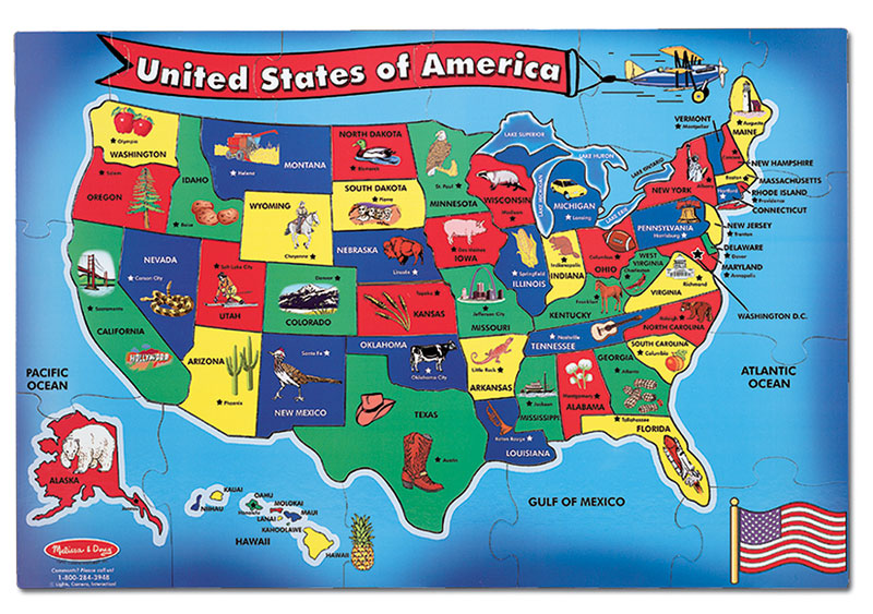 U.S.A. Map - Scratch and Dent Educational Jigsaw Puzzle